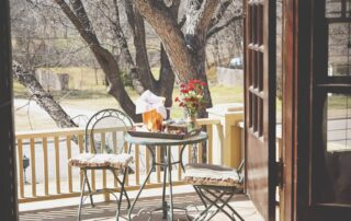 Patio at A Memory Grows retreat location